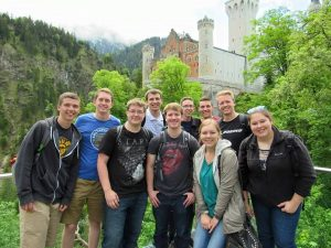 students participating in study abroad