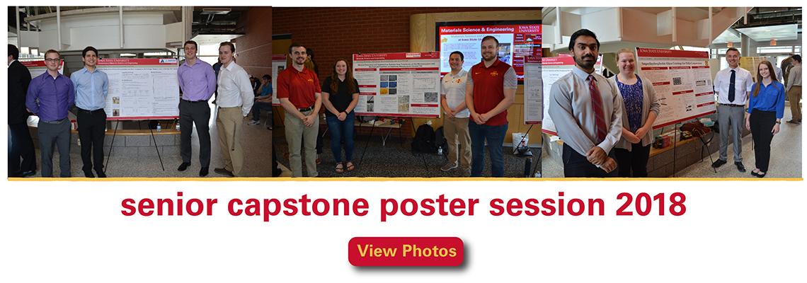 senior capstone poster session 2018