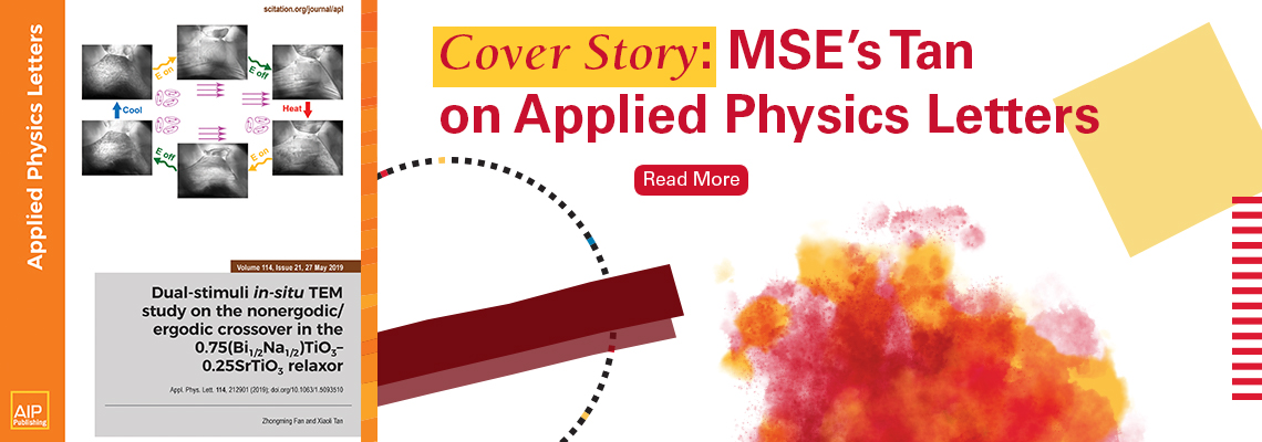 Slider for Xiaoli Tan's Cover Story on Applied Physics Letter